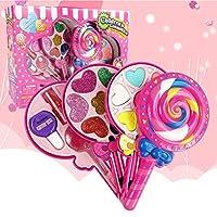 ACHICOO 化粧おもちゃ メイクアップ 化粧箱 プレイハウス ロリポップ形状 インタラクティブ玩具 キッズ 女の子