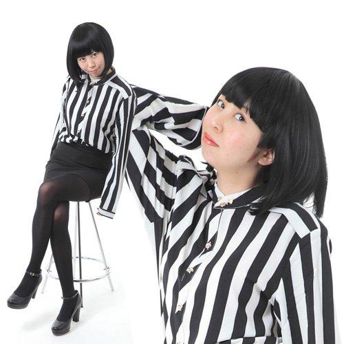 Boa Sorte なりきり キャリアOL 4点セット(ウィッグ・シャツ・スカート・眉形カード) M:女性フリーサイズ(160-170cm)