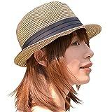 nakota(ナコタ) ミックスペーパーハット メンズ レディース  麦わら帽子 折りたたみ パナマ帽 麦わらハット 春夏 帽子 中折れ ハット リボン ライン 軽い 通気性 紫外線対策 大きいサイズ