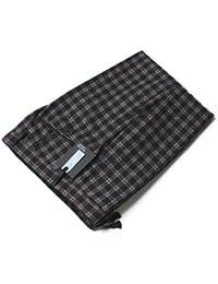 【アウトレット品】 インコテックス 国内正規品 N35型 SLIM FIT ウール チェック柄 スラックス 1NT035 54 ネイビー