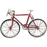 1 : 10スケールレッド合金自転車DIYドールハウスミニチュア装飾のACCS