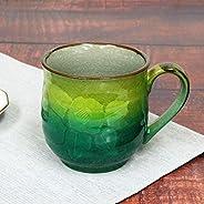 九谷焼 陶器 マグカップ 銀山茶花 AK4-0881