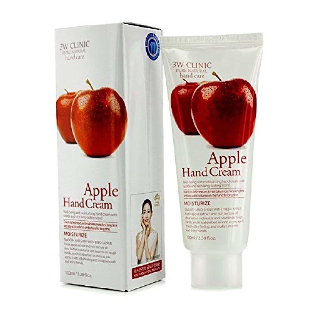 貧困例示する啓発する3Wクリニック Hand Cream - Apple 100ml/3.38oz並行輸入品