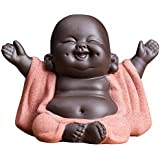 KINGZHUO Ceramic Little Cute Buddha Statue Monk Figurine Creative Baby Crafts Dolls Ornaments Gift Chinese Delicate Ceramic A