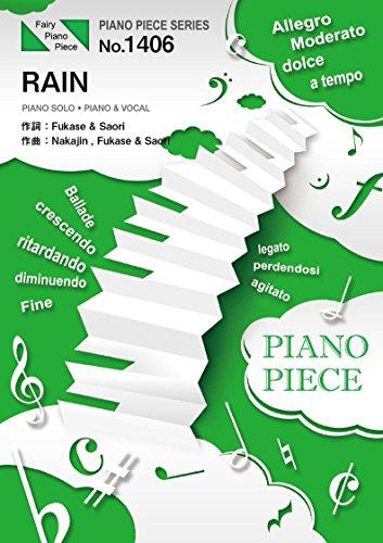 ピアノピースPP1406 RAIN / SEKAI NO OWARI  (ピアノソロ・ピアノ&ヴォーカル)~映画「メアリと魔女の花」主題歌