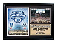Encore Select 129–03NCAA Duke大学Framed 2010ブルーDevils Team Composite印刷、12-inch by 18インチ