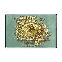 Angry Beastソフトノンスリップフロアマットカバーカーペットメモリーフォーム色あせエリアラグにベッドルームリビングルームPlayroom 72 x 48 inches bajuntu_017
