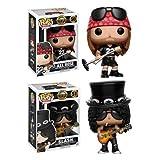[ファンコ]FunKo POP Rocks: Guns N Roses Axl Rose & Slash 2体セット ガンズ フィギュア アクセル スラッシュ