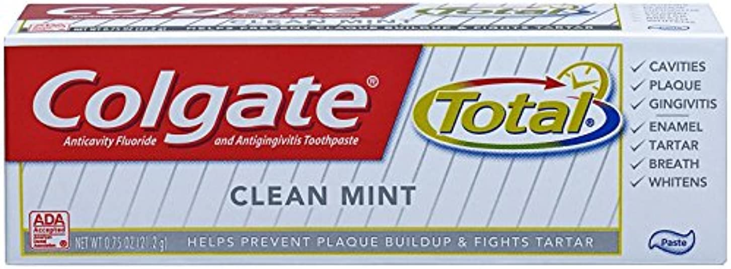 円形座るアジアColgate 合計オリジナルの歯磨き粉、トライアルサイズ - 0.75オンス - クリーンミント