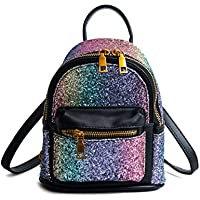 SEALINF Women Girl Bling Mini Backpack Convertible Shoulder Cross Bags Purse