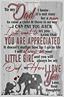 Elephant To Dad I Know It's Not Easy For A Man Daughter Lined Notebook Journal, 100 Pages (6 x 9 Inches) Blank Ruled Writing Journal With Inspirational Quotes, Perfect Diary Notebook Gifts for Father Day Mother Day Family Ideas .