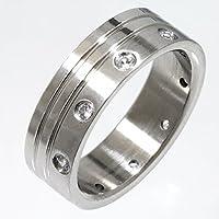 ReiZ リング 指輪 316Lステンレス ジルコニア #15号