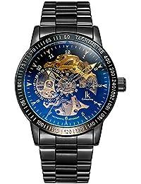 IK Colouring 98226G【化粧箱付】メンズ スケルトン腕時計(ゴールド/ブラック/ブルーウィンドウ) [並行輸入品]