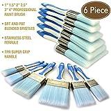 KingOrigin 10052A Premium Plastic Paint Brushes Set 6 Piece