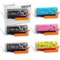 Canon 大容量タイプ BCI-381XL + BCI-380XL 用互換インク 6個セット(グレー有)【バウストア】
