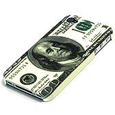 【全3柄】iPhone4ケース ハードカバー 紙幣柄 アメリカ100ドル紙幣 アイフォン4 カバー Plastic Case / Cover for iPhone 4 液晶保護フィルム USB充電ケーブル付(1609-1)