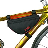 Wodery 自転車用 トライアングル型バッグ スマホホルダー 21.5*13.5*16.9CM サドルバッグフロントバッグ 自転車トップチューブバッグ 携帯電話対応 携帯ホルダー バイク収納アクセサリー 取り外して携行バッグ 大容量 (4色)