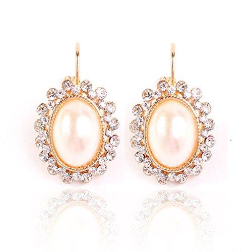 [比翼堂] レディース ピアス 「 十数粒のダイヤモンド で 輝く 大粒 パール 」サージカルステンレス プラチナコーティング 高級ケース付き