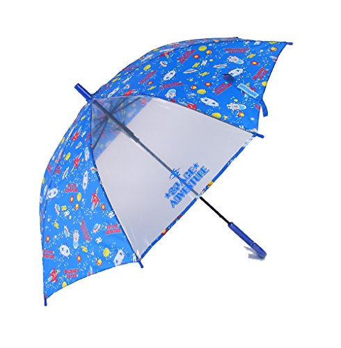 [해외]아테인 KIDS 용 투명 창부 점프 우산 섬유 뼈 사용 친뼈 55cm 우주 모험 진한 파랑 1272/Atein KIDS for transparent window with jump umbrella fiberglass Bone use rib 55 cm space adventure dark blue 1272
