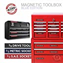 Steellabels Magnetic Tool Box Organizer Labels (blue edition) organize boxes, drawers cabinets Quick Easy , fits all brands of 039 Steel 039 tool chest Craftsman, Snap-on, Mac, Matco Cornwell 並行輸入品