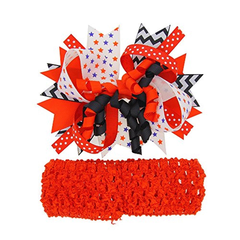 赤ちゃんDIYヘアリボン付きヘアリボンクリップBack For Festival日jhn02