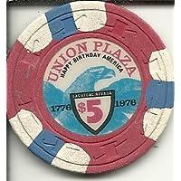 $ 5 Union PlazaヴィンテージObsoleteラスベガスカジノチップ