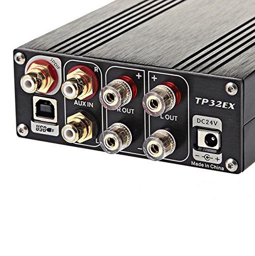 TOPPING デジタルアンプ TP32EX Tripath TK2050搭載 TI OPA2134オペアンプ シルバー