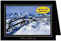 Photographer 'sエッジ、写真挿入カード、プレミアムブラックリネン、Season 's Greetings、10のセットの4x 6写真