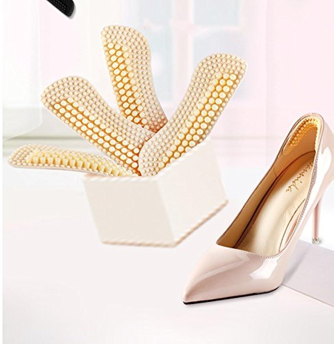 宣伝書き込み道IKRR 靴擦れ防止パッド かかと滑り止め かかと調整パッド 4D かかとクッション 痛み軽減 パカパカ防止 滑り止め 靴のサイズ調整(2足セット4枚) シリコン 男女兼用
