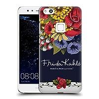 Official Frida Kahlo ブルーム レッド・フローラル ハードバックケース Huawei P10 Lite