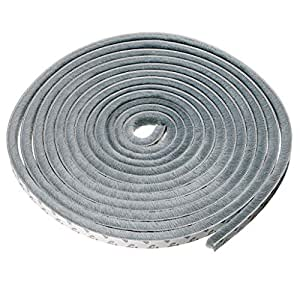 Sumnacon 隙間テープ 窓 ドア 防風 防音 防水 毛足 5m グレー