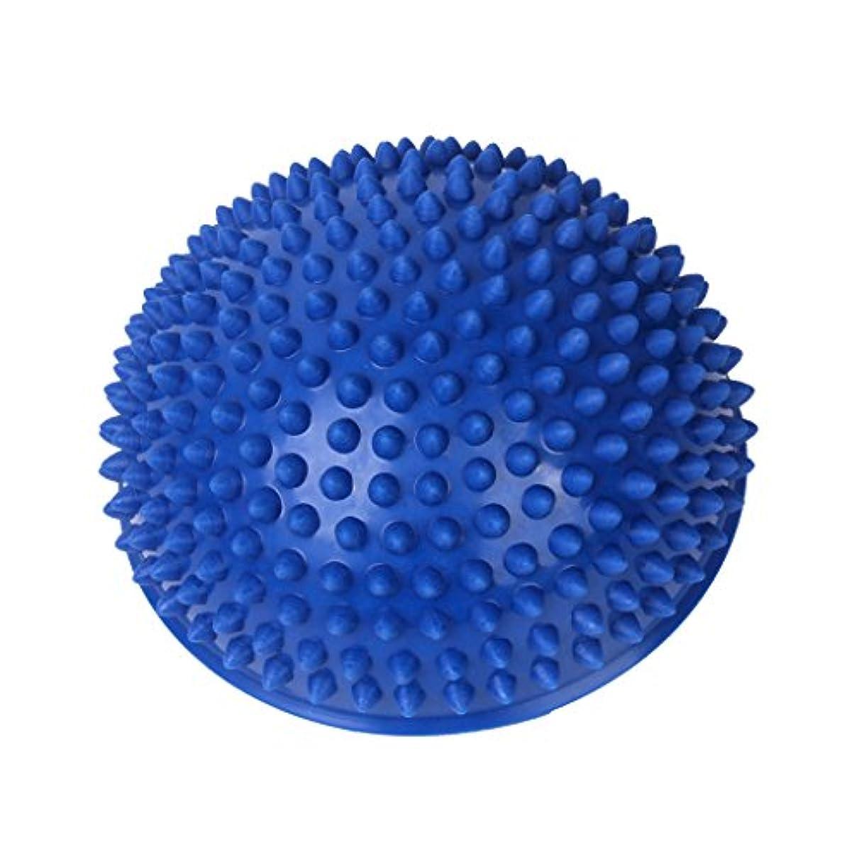 愚かな文芸そしてFootful マッサージボール 半球 健康グッズ 健康器具 血液循環促進 緊張緩和 ブルー