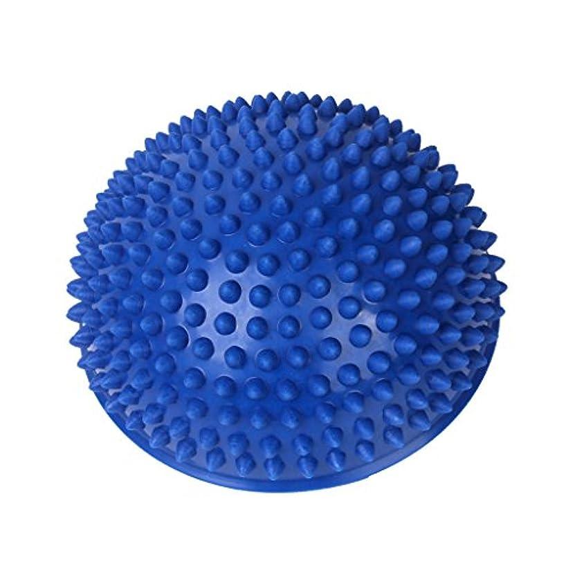 り支出事実上Footful マッサージボール 半球 健康グッズ 健康器具 血液循環促進 緊張緩和 ブルー
