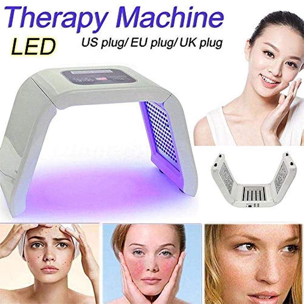遺伝的拍手エイリアスzhongxinze 美機器を白くするニキビ美容器具 分光計LED美容機器 にきびの美装置を白くするPDTの分光計の美の器械LEDの軽い力7色ライト若返り(白)