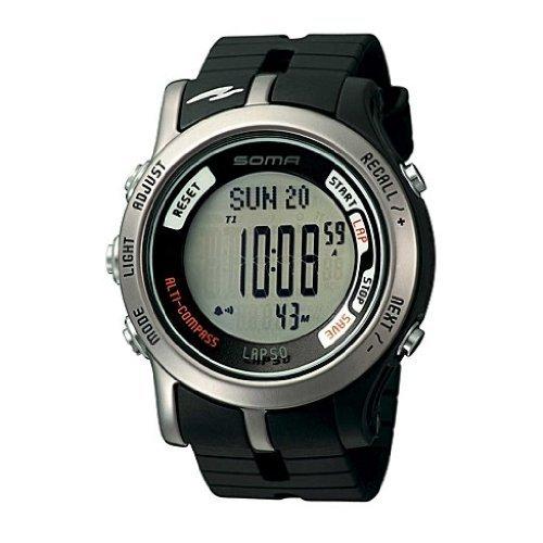 SOMA ソーマ  50 腕時計 / DWJ81-0001 デジタルコンパス 高度計 50ラップメモリー 水分補給アラームなど 多くの機能を搭載。