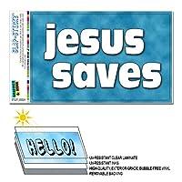 イエス Saves - キリスト教の宗教的インスピレーション SLAP-STICKZ(TM)プレミアムステッカー