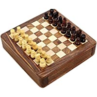 Magnetic Chess Sets and Board Wooden Toys and Games 5 X 5 Inches Travel Games [並行輸入品]