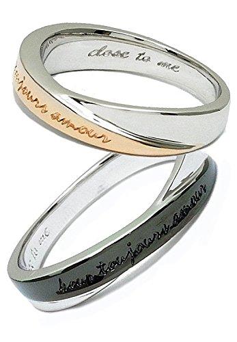 [クローストゥーミー] Close to me カラーツインライン シルバー 925 ペアリング 2個セット カップル 指輪 (女性9号と男性17号) ブランド