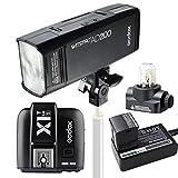 Godox AD200 ポケット TTL スピードライト フラッシュ ポータブル 付き GN52 GN60 1/8000s HSS 2.4Gワイヤレス Xシステム 200W強力パワー + X1T-S TTLワイヤレスフラッシュトリガー Sony 用送信機 SONY カメラ用