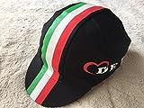 DEROSA(デローザ) 439 ITALIAN FLAG キャップ ブラック