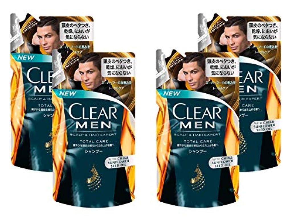 トン十年無法者【4袋セット】クリア フォーメン トータルケア 男性用シャンプー つめかえ用 (健やかな頭皮へ) 280g × 4袋