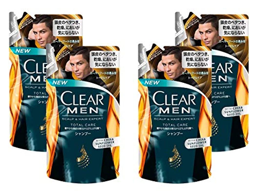 過言洗練恐れる【4袋セット】クリア フォーメン トータルケア 男性用シャンプー つめかえ用 (健やかな頭皮へ) 280g × 4袋