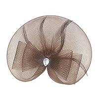 Perfk パーティー ヴィンテージ 人工羽毛 魅力的な ヘッドドレス 復古 ギャツビー ヘッドウェア 全10色 - コーヒー