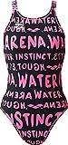 arena(アリーナ) レディース 練習用 水着 スーパーストリーナ ワンピースタイプ タフスーツ ピンク FSA-6617W PNK S