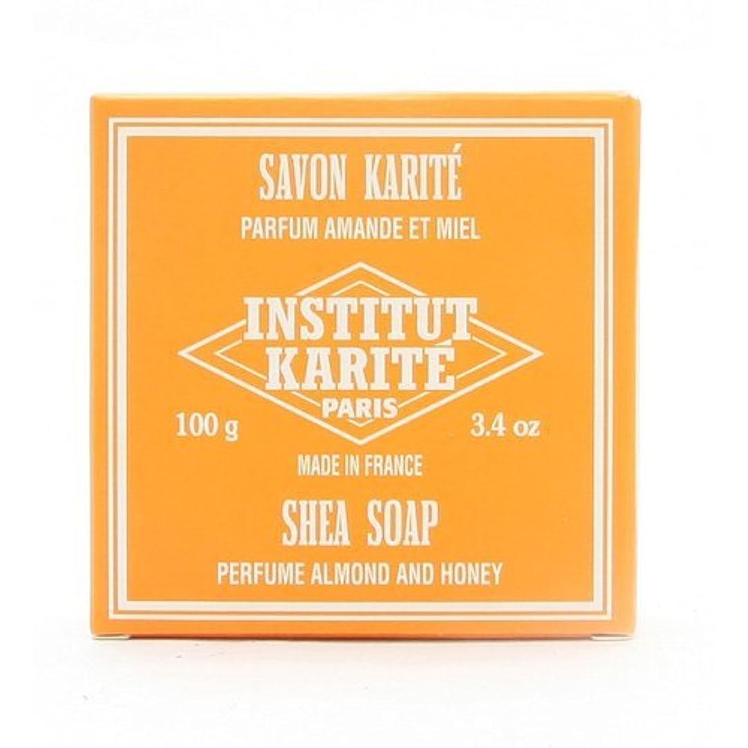 肩をすくめる優雅コーヒーINSTITUT KARITE インスティテュート カリテ 25% Extra Gentle Soap ジェントルソープ 100g Almond Honey アーモンドハニー