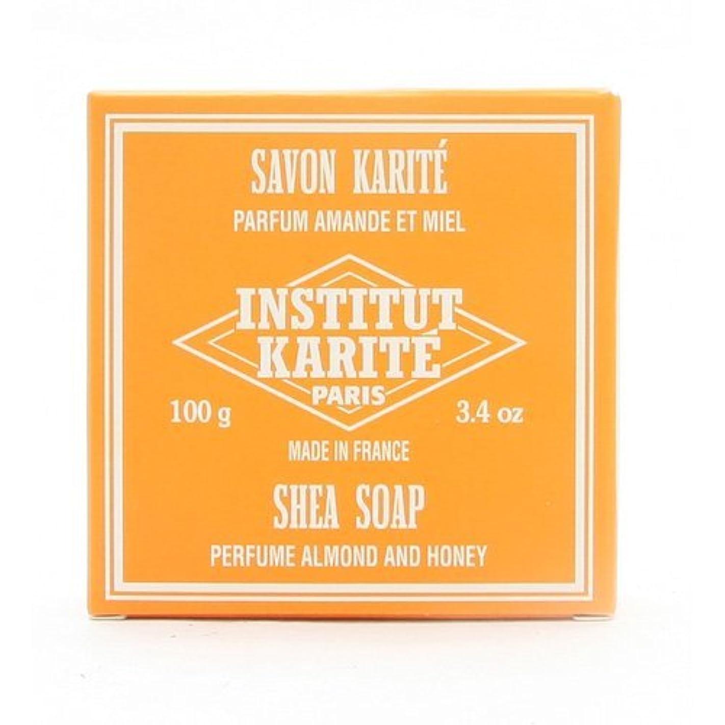 不健康夜間微視的INSTITUT KARITE インスティテュート カリテ 25% Extra Gentle Soap ジェントルソープ 100g Almond Honey アーモンドハニー
