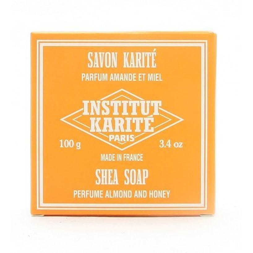 後ろに小さい仕方INSTITUT KARITE インスティテュート カリテ 25% Extra Gentle Soap ジェントルソープ 100g Almond Honey アーモンドハニー