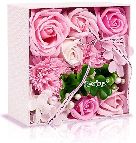 ソープフラワー 創意方形ギフトボックス 誕生日 母の日 記念日 先生の日 バレンタインデー 昇進 転...