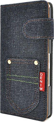 PLATA arrows NX F-01J ケース 手帳型 ポケット デニム デザイン スタンド ケース ポーチ 手帳 カバージーンズ DF01J-63A-A
