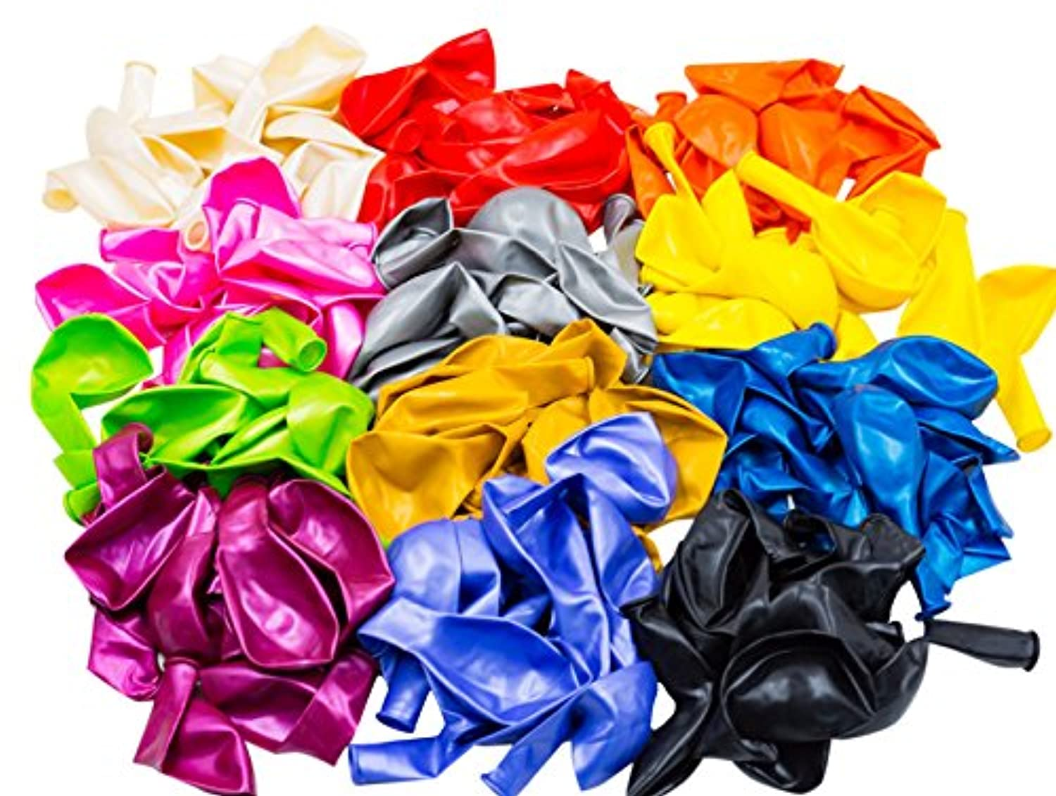 Woodi 12-Inches 12 Color Balloons (140-Piece) by woodi